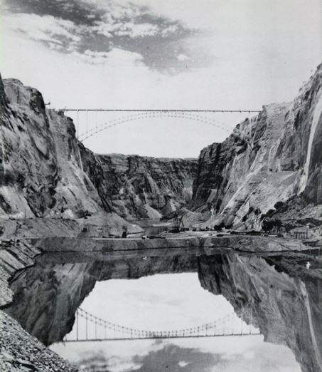 Glen Canyon Dam Construction Site. Undated. Source is most likely the USBR.